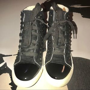 Forever 21   HighTop Canvas Studded Sneakers